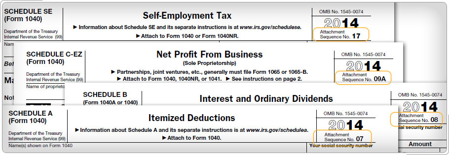 File Old Tax Returns How To Assemble Your 1040 Income Tax Return